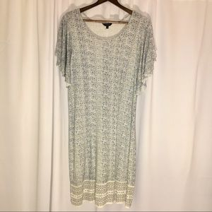 LUCKY BRAND | 1X | BOHEMIAN DRESS | FLOWY SLEEVES